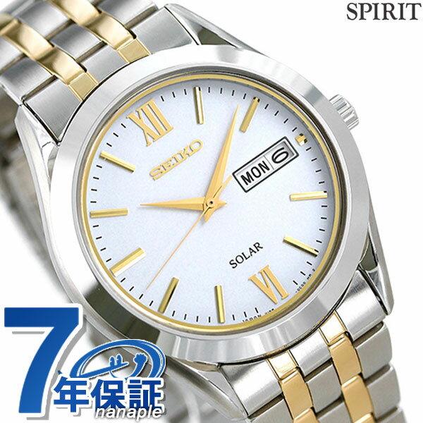 セイコー スピリット ソーラー メンズ SBPX085 SEIKO SPIRIT 腕時計 ホワイト 時計【あす楽対応】