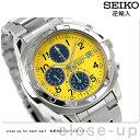 セイコー 逆輸入 海外モデル 高速クロノグラフ SND409P1 (SND409P) SEIKO メンズ 腕時計 クオーツ イエロー×ネイビー