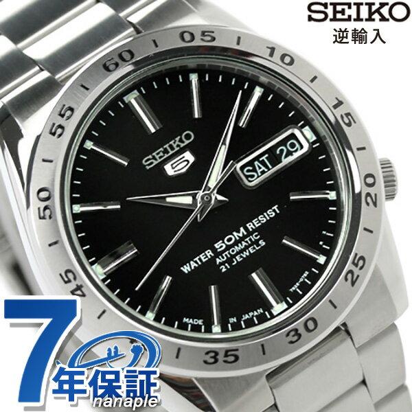 【10月下旬入荷予定 予約受付中♪】セイコー 逆輸入 海外モデル セイコー5 自動巻き メンズ SNKE01J1(SNKE01JC) SEIKO 5 腕時計 ブラック 時計