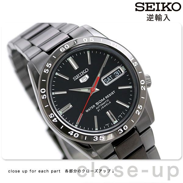 セイコー 5 逆輸入 海外モデル 自動巻き SNKE03K1(SNKE03KC) SEIKO メンズ 腕時計 オールブラック 時計