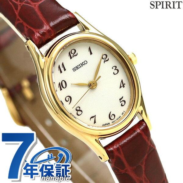 【当店なら!さらにポイント+4倍 25日10時〜】セイコー スピリット クオーツ レディース 腕時計 SSDA006 SEIKO SPIRIT ホワイト×レッド レザーベルト 時計