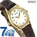 セイコー スピリット クオーツ レディース 腕時計 SSDA008 SEIKO SPIRIT アイボリー×ブラウン レザーベルト