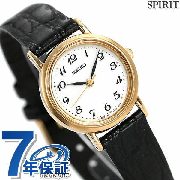 セイコー スピリット レディース 腕時計 SSDA030 SEIKO SPIRIT クオーツ ホワイト×ブラック レザーベルト 時計【あす楽対応】