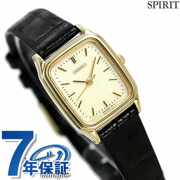 セイコー スピリット レディース 腕時計 SSDA080 SEIKO SPIRIT クオーツ ゴールド×ブラック レザーベルト 時計