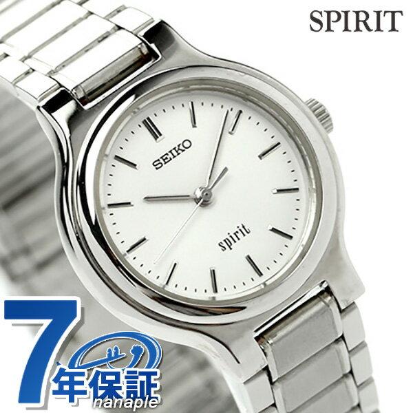 【当店なら!さらにポイント+4倍 25日10時〜】セイコー スピリット レディース 腕時計 SSDN003 SEIKO SPIRIT クオーツ ホワイト 時計