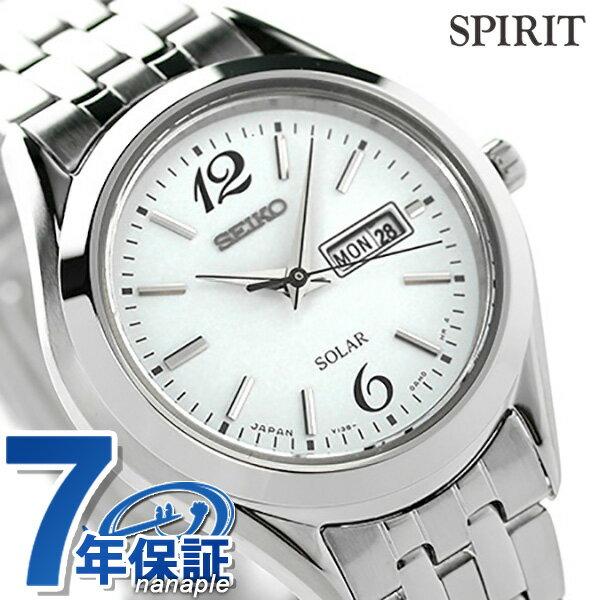 【当店なら!さらにポイント+4倍 25日10時〜】セイコー スピリット ソーラー レディース STPX027 SEIKO SPIRIT 腕時計 ホワイト 時計