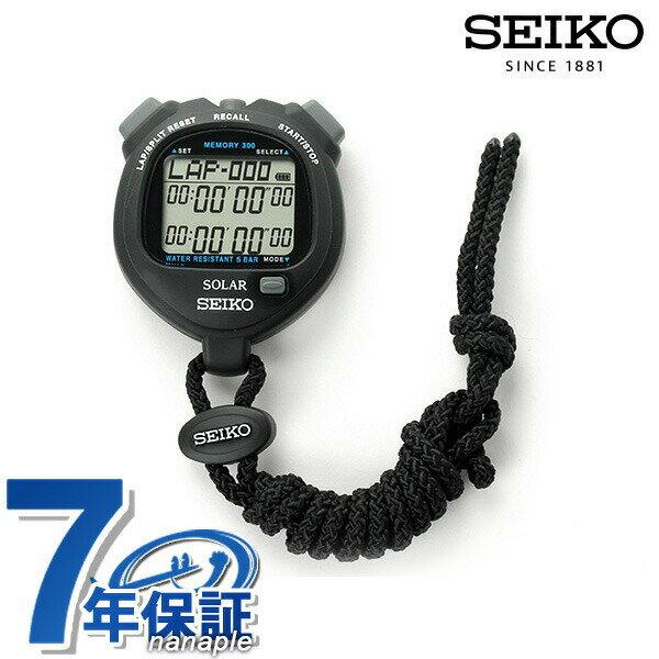 セイコー ストップウォッチ スタンダード ソーラー SVAJ001 SEIKO ブラック