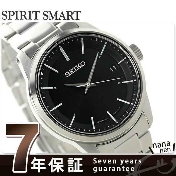 【1000円割引クーポン 20日9時59分まで】 セイコー スピリット 電波ソーラー メンズ 腕時計 SBTM233 SEIKO ブラック
