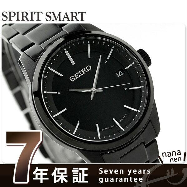 【1000円割引クーポン 20日9時59分まで】 セイコー スピリット 電波ソーラー メンズ 腕時計 SBTM235 SEIKO オールブラック