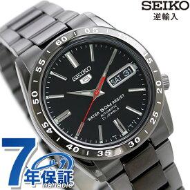 【今ならポイント最大32倍】 セイコー 5 逆輸入 海外モデル 自動巻き SNKE03K1(SNKE03KC) SEIKO メンズ 腕時計 オールブラック 時計【あす楽対応】