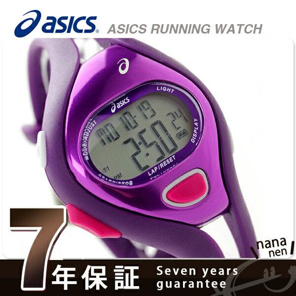 【当店なら!さらにポイント+4倍!21日1時59分まで】 アシックス ランニングウォッチ クロノグラフ AR05 CQAR0511 asics 腕時計 ファンランナー 38mm バイオレット 時計