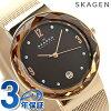 sukagenredisu手錶石英SKW2068 SKAGEN棕色×粉紅黄金金屬皮帶