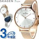 【今なら全品5倍でポイント最大30倍】 スカーゲン 時計 レディース 腕時計 SKAGEN アニタ メッシュベルト 革ベルト