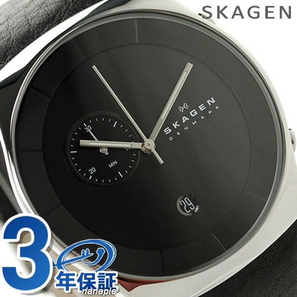 【エントリーだけでポイント3倍 27日9:59まで】 スカーゲン メンズ ヘブン クロノグラフ 腕時計 SKW6070 SKAGEN クオーツ ブラック 時計
