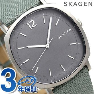 sukagenrangusuteddo 40mm石英人手錶SKW6381 SKAGEN灰色×綠色