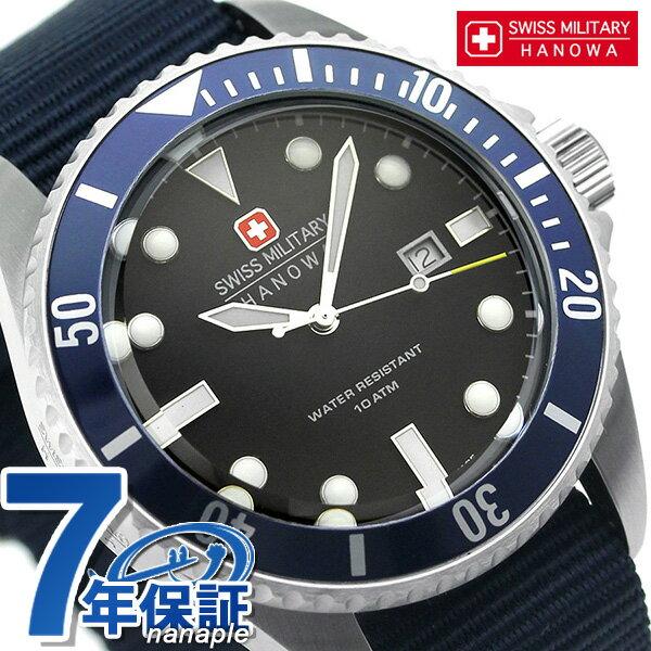 スイスミリタリー ネイビー クオーツ メンズ 腕時計 ML414 SWISS MILITARY ブラック