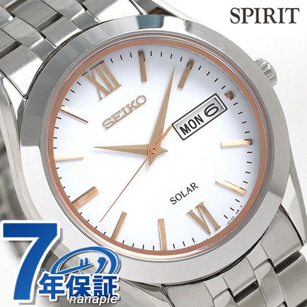 セイコー スピリット ソーラー メンズ 腕時計 SBPX095 SEIKO SPIRIT ホワイト 時計