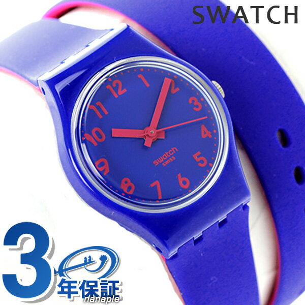 スウォッチ SWATCH 腕時計 スイス製 オリジナル レディース 二重巻き LS115 クオーツ ブルー 時計【あす楽対応】