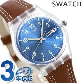 スウォッチ SWATCH オリジナルス ジェント ウィンディデューン メンズ レディース 腕時計 GE709 ブルー×ブラウン【あす楽対応】
