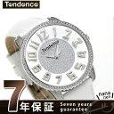 テンデンス スリム 41 スワロフスキー クオーツ 腕時計 TY132005 TENDENCE ホワイト