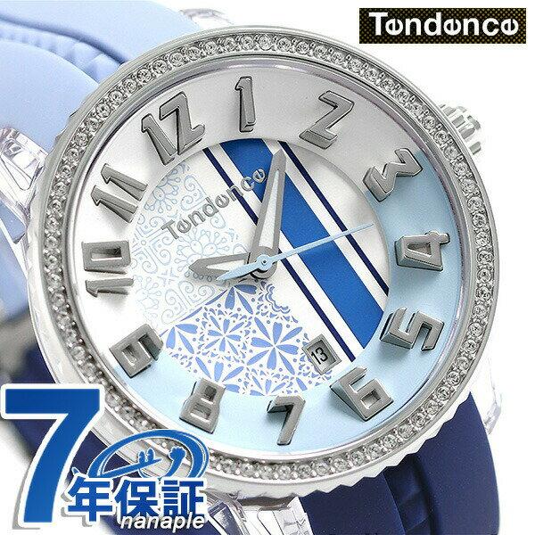 【当店なら!さらにポイント+4倍!21日1時59分まで】 テンデンス クレイジー ミディアム 42mm レディース 腕時計 TY930064 TENDENCE ブルー 時計【あす楽対応】