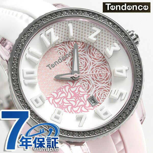 【当店なら!さらにポイント+4倍!21日1時59分まで】 テンデンス クレイジー ミディアム 42mm レディース 腕時計 TY930065 TENDENCE ホワイト×ピンク 時計【あす楽対応】