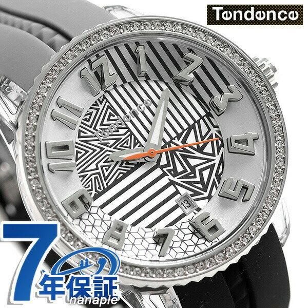 【当店なら!さらにポイント+4倍!21日1時59分まで】 テンデンス クレイジー ミディアム 42mm 腕時計 TY930066 TENDENCE ブラック×グレー 時計