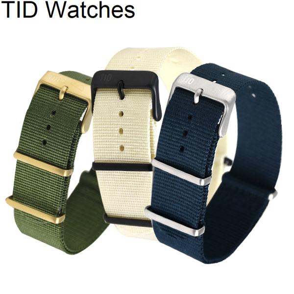 TID watches 時計 交換用ベルト レザー トウェイン 21mm TID-BELT 選べるモデル