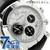 tifaniatorasujientokuronogurafu 42mm自動卷人手錶Z1000.82.12A21A71A TIFFANY&Co. 銀子×黑色短吻鱷皮革新貨