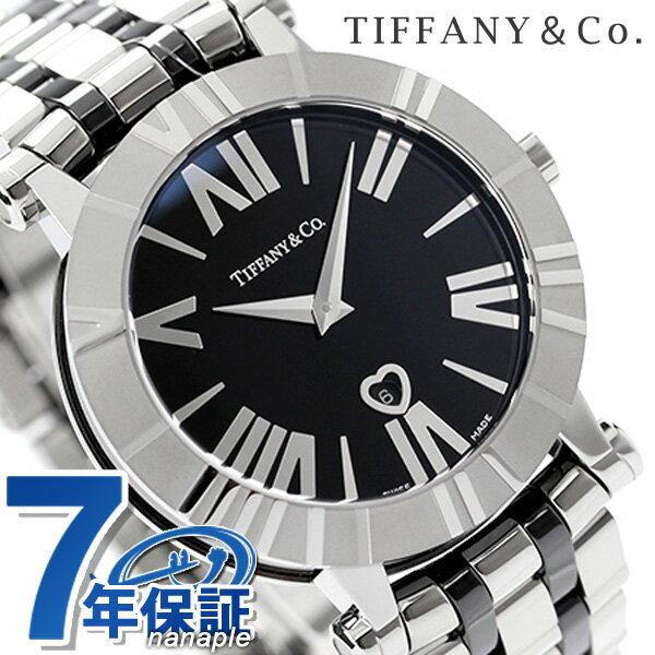 ティファニー アトラス 36mm レディース 腕時計 Z1301.11.11A10A00A TIFFANY&Co. クオーツ ブラック メタルベルト 新品