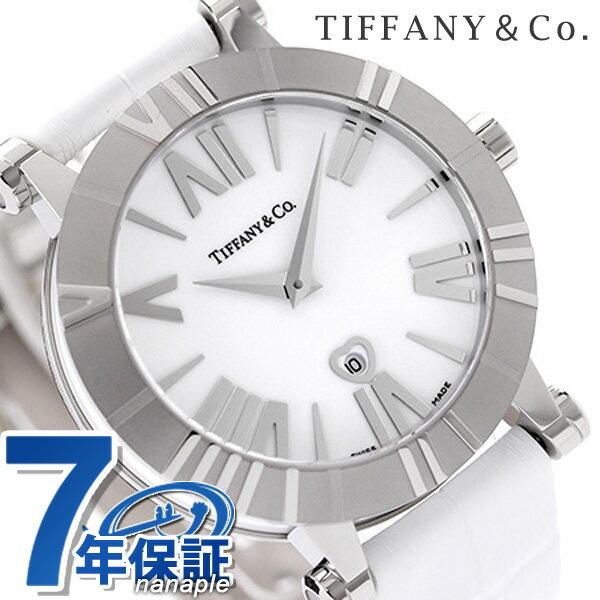 ティファニー アトラス 36mm レディース 腕時計 Z1301.11.11A20A71A TIFFANY&Co. クオーツ ホワイト アリゲーターレザー 新品