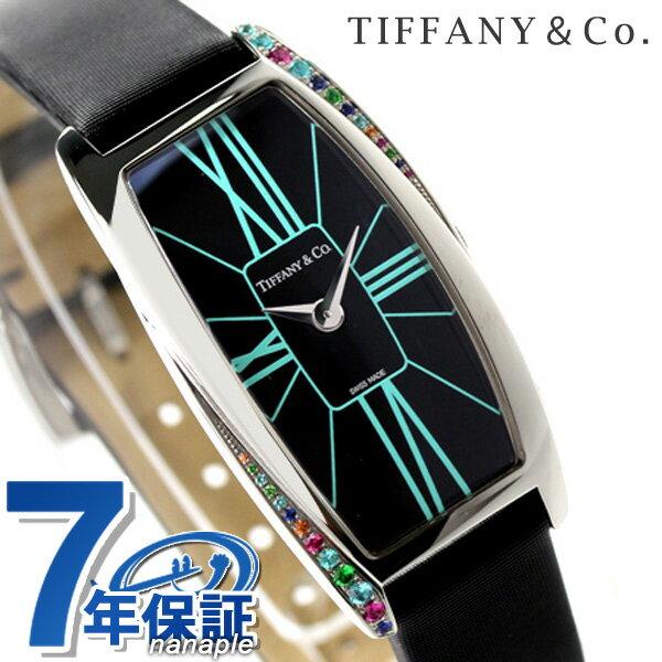 ティファニー ジェメア ラージ 22mm カラージュエル レディース 腕時計 Z6401.10.10G19A40G TIFFANY&Co. クオーツ ブラック サテンレザー 新品