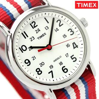 Timex手表uikuendasentorarupakufurusaizuhowaito×红尼龙皮带TIMEX 2N746