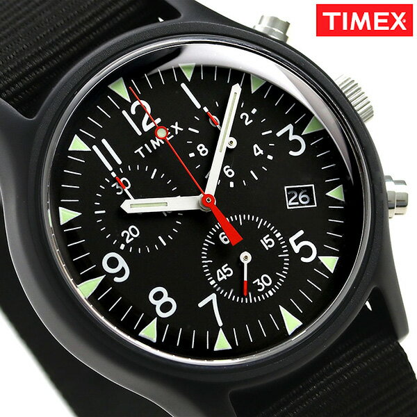 タイメックス MK1 アルミニウム クロノグラフ 40mm TW2R67700 TIMEX 腕時計 オールブラック 時計