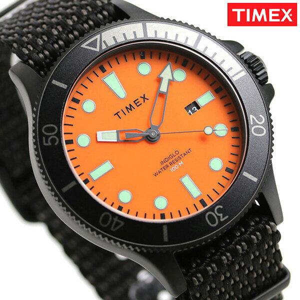 タイメックス アライド コーストライン メンズ 腕時計 TW2T30200 TIMEX 時計 オレンジ×ブラック