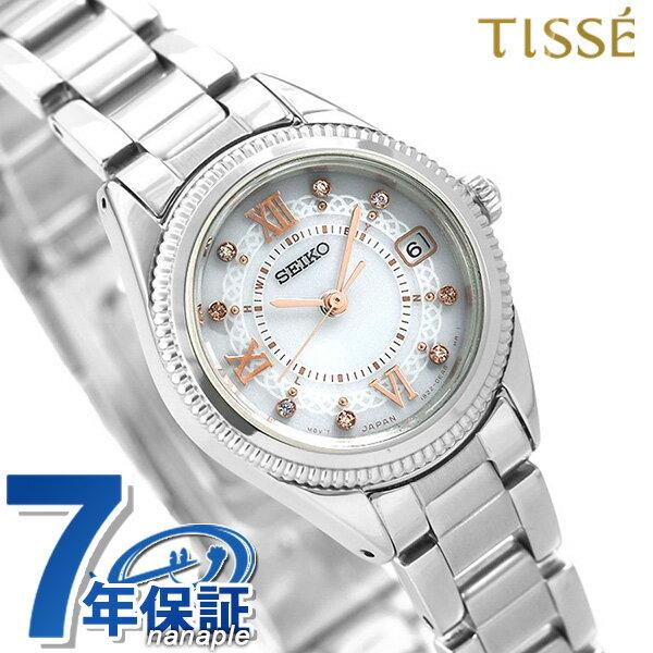 セイコー ティセ 電波ソーラー レディース SWFH061 SEIKO TISSE 腕時計 シルバー 時計