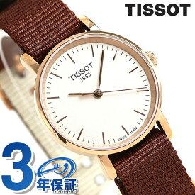 TISSOT ティソ 腕時計 T-クラシック エブリタイム 30mm レディース T109.210.37.031.00 シルバー×ブラウン【あす楽対応】