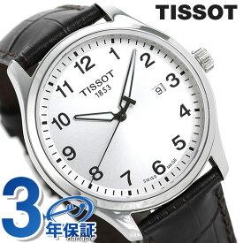 ティソ 腕時計 T-スポーツ ジェント XL クラシック 42mm メンズ T116.410.16.037.00 TISSOT シルバー×ダークブラウン 革ベルト 時計【あす楽対応】