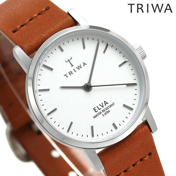 TRIWA トリワ 時計 スウェーデン 北欧 シンプル 革ベルト 28mm レディース 腕時計 エルバ ELST101-EL010212【あす楽対応】