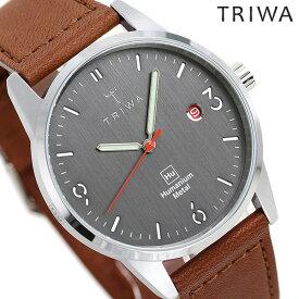 トリワ 腕時計 メンズ レディース 時計 TRIWA ヒューマニウム HU39D-SC010212 ダークグレー×ブラウン【あす楽対応】