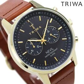 トリワ 腕時計 メンズ レディース 時計 TRIWA アクアティック ネビル NEST122-CL010217 ブラック×ブラウン【あす楽対応】