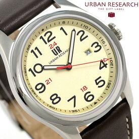 【25日なら全品5倍以上!店内ポイント最大37倍】 URBAN RESEARCH 3針デイト 革ベルト メンズ 腕時計 UR001-03 アーバンリサーチ ゴールド 時計