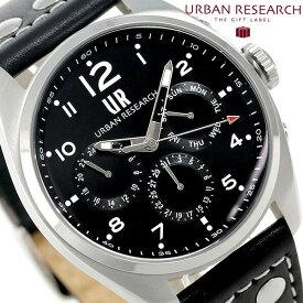 今なら店内ポイント最大49倍! URBAN RESEARCH マルチファンクション メンズ 腕時計 UR002-01 アーバンリサーチ ブラック 時計【あす楽対応】