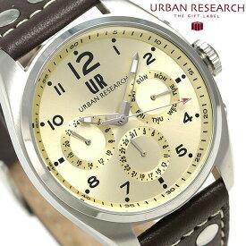 今なら店内ポイント最大49倍! URBAN RESEARCH マルチファンクション メンズ 腕時計 UR002-03 アーバンリサーチ ゴールド 時計【あす楽対応】