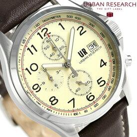 【25日なら全品5倍以上!店内ポイント最大37倍】 URBAN RESEARCH クロノグラフ 革ベルト メンズ 腕時計 UR003-03 アーバンリサーチ ゴールド 時計