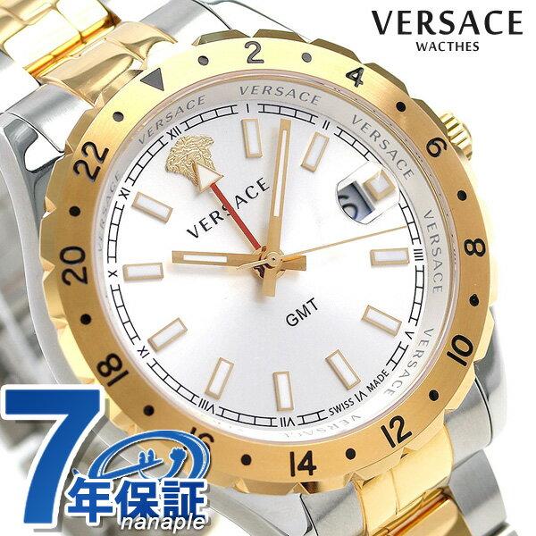 ヴェルサーチ 時計 メンズ VERSACE 腕時計 ヘレニウム GMT 42mm クオーツ V11030015 シルバー