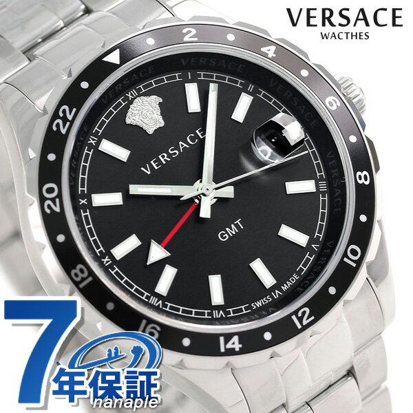 ヴェルサーチ 時計 メンズ VERSACE 腕時計 ヘレニウム GMT 42mm V11100017 ブラック