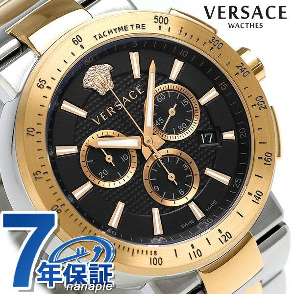 ヴェルサーチ 時計 メンズ VERSACE 腕時計 ミスティック スポーツ クロノグラフ VFG100014 ブラック【あす楽対応】
