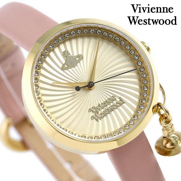 ヴィヴィアン 時計 レディース ボウ 32mm VV139WHPK Vivienne Westwood ゴールド 腕時計【あす楽対応】