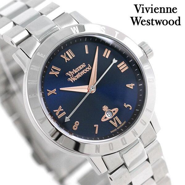 ヴィヴィアン 時計 レディース ブルームズベリー 34mm VV152NVSL Vivienne Westwood ダークネイビー